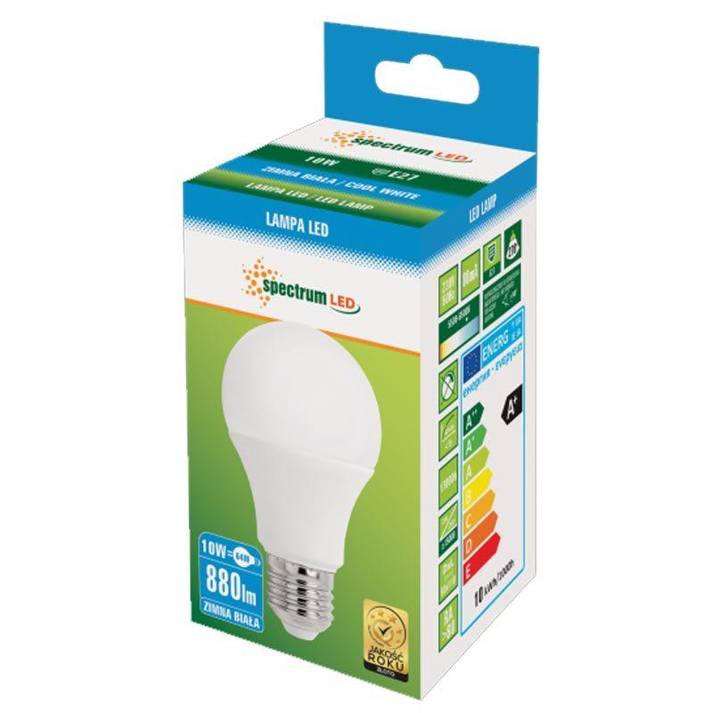 10W E27 LED lemputė GLS CW