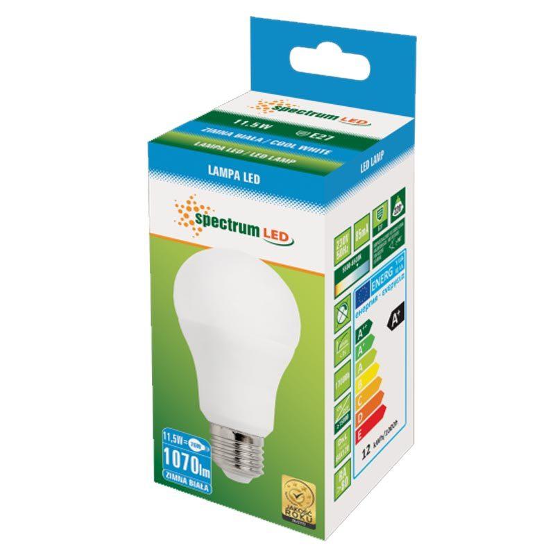 11,5W E27 LED lemputė GLS CW