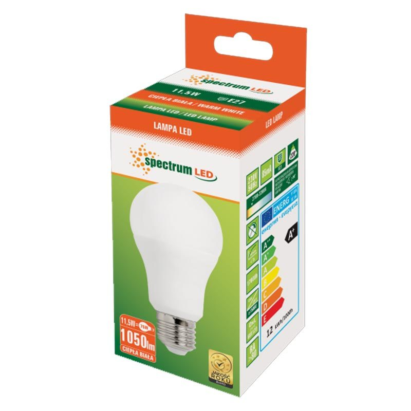 11,5W E27 LED lemputė GLS WW