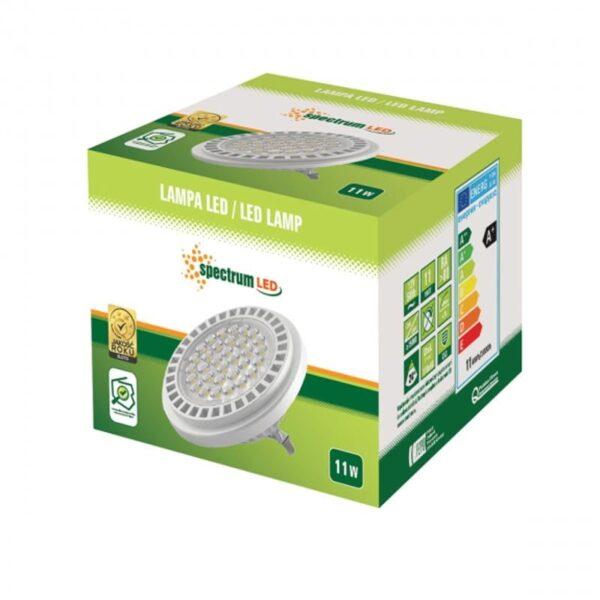 11W 12V G53 LED lemputė AR111 24 box