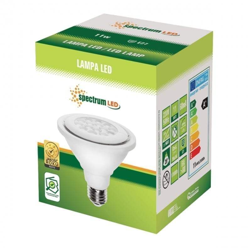 11W E27 LED lemputė PAR30 box