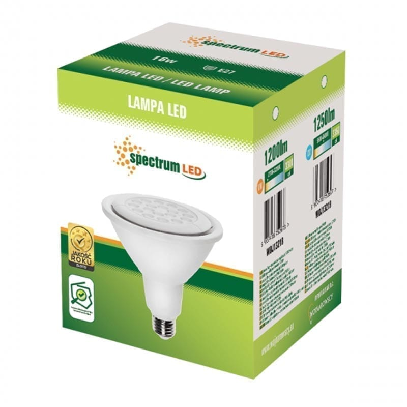 16W E27 LED lemputė PAR38 box