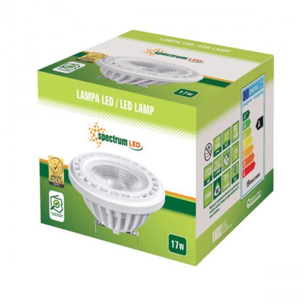 17W G53 12V LED lemputė AR111 60 box