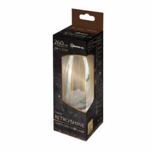 2W E14 LED lemputė COG Retro CANDLE box