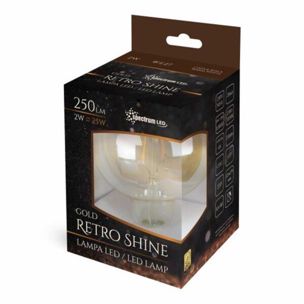 2W E27 LED lemputė COG Retro GLOBE box