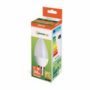 4W E14 LED lemputė CANDLE WW