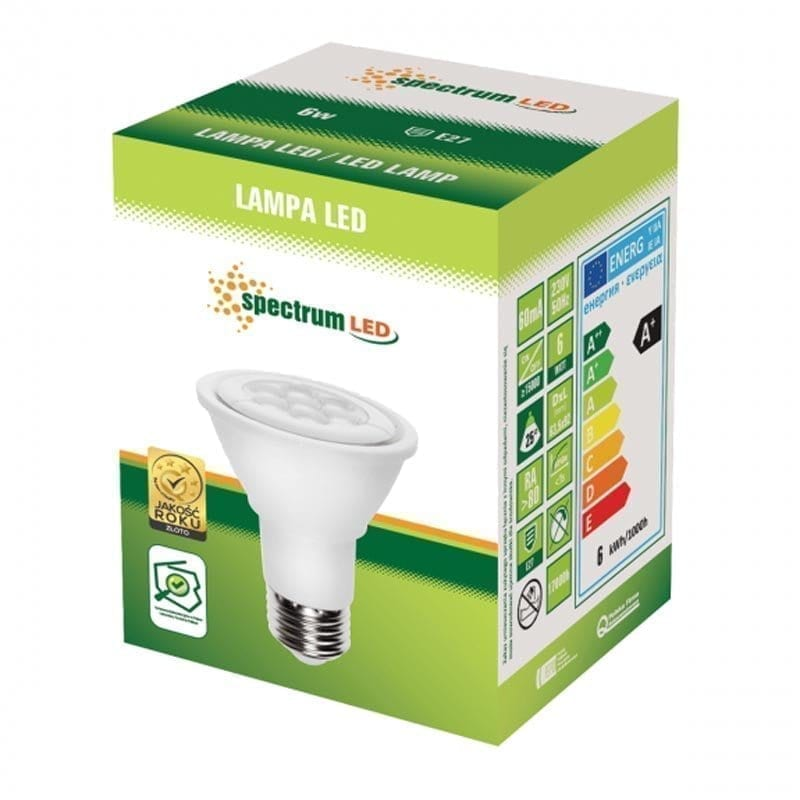 6W E27 12V LED lemputė PAR20 box