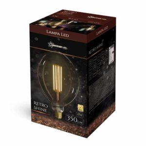 6W E40 LED lemputė Retro Cone box