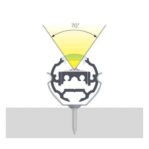 Apvalus LED profilis COSMO 30