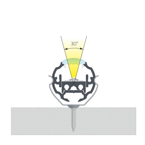 Apvalus LED profilis COSMO 15
