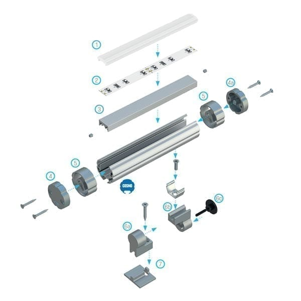 Apvalus LED profilis COSMO 3