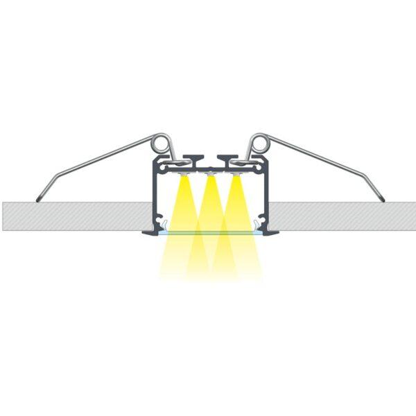 Įmontuojamas LED profilis INSO 3