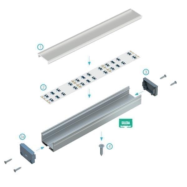 LED profilis SILEDA 2