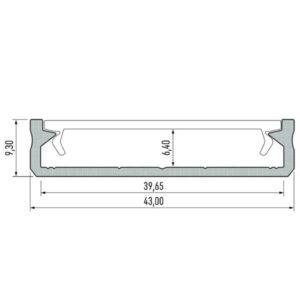 Paviršinis LED profilis SOLIS m
