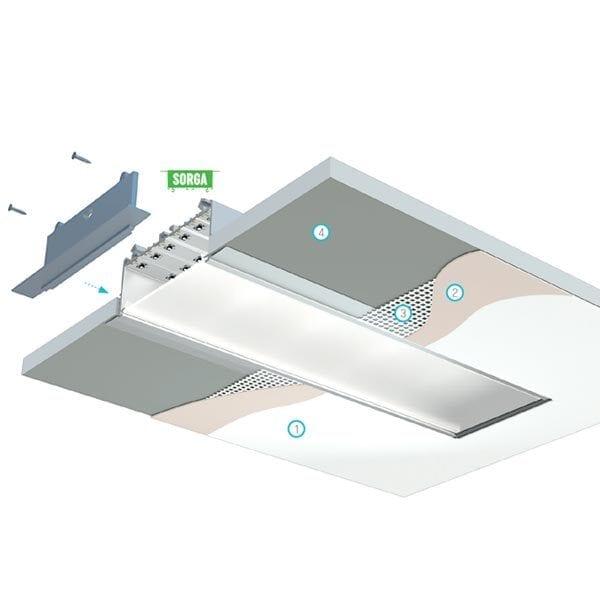 Užtinkuojamas LED profilis SORGA 2
