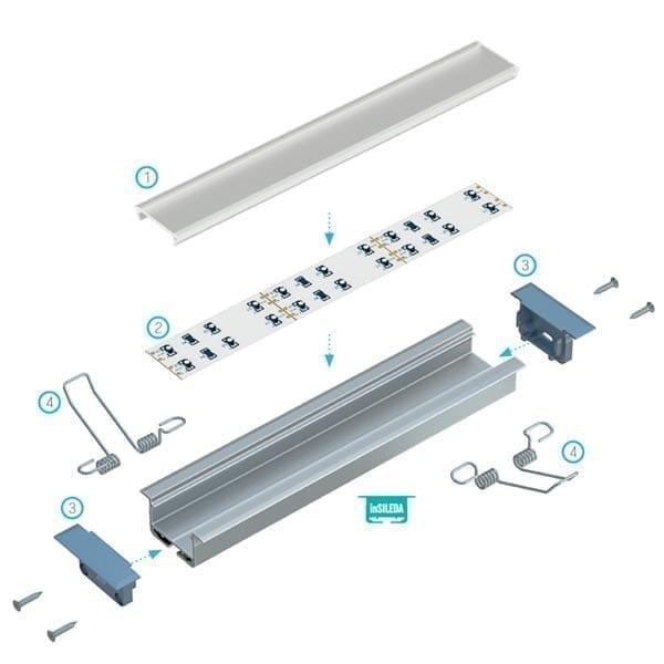 Įmontuojamas LED profilis inSILEDA 3
