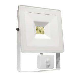 30W LED prožektorius LUX baltas su davikliu