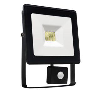 30W LED prožektorius LUX juodas su davikliu