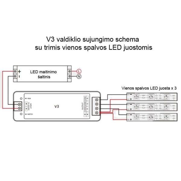 rgB valdiklio pajungimo shcema V3-L2