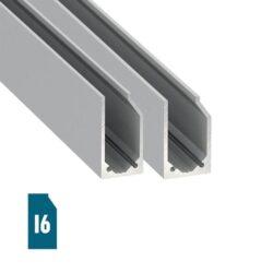 Stiklo LED profilis I6
