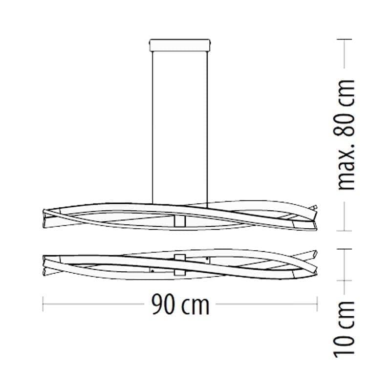 Pakabinamas LED šviestuvas SAGITTA H1 m
