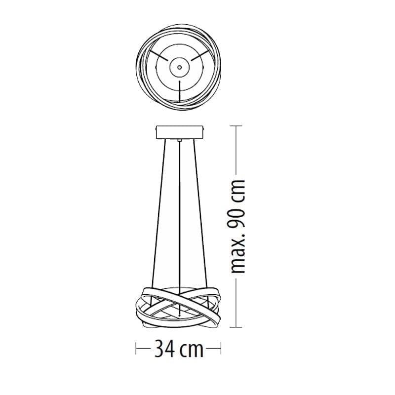 Pakabinamas LED šviestuvas TIVANO S m