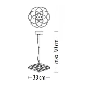 Pakabinamas LED šviestuvas TILIA SMALL m