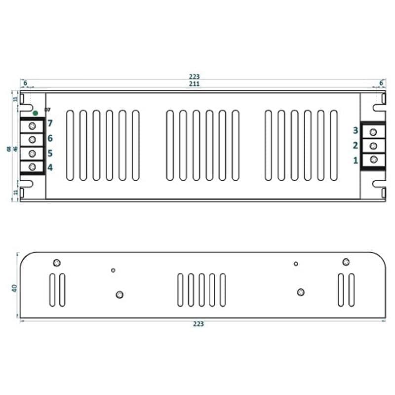 200W LED maitinimo šaltinis ADLS m