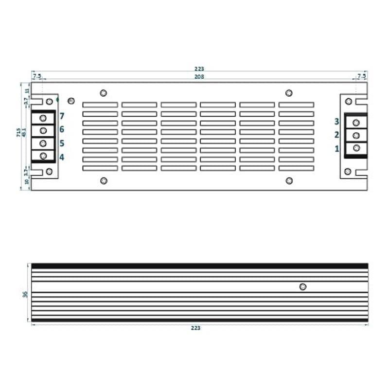 240W LED maitinimo šaltinis ADLS m
