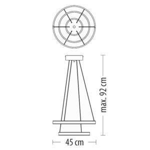 Pakabinamas LED šviestuvas LARGO S m