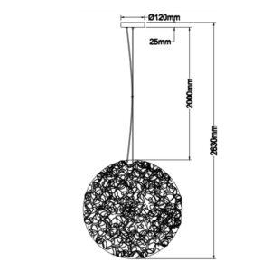 Pakabinamas šviestuvas ARBUSTOS R60 m