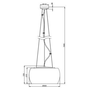 Pakabinamas šviestuvas VAPORE R40 m