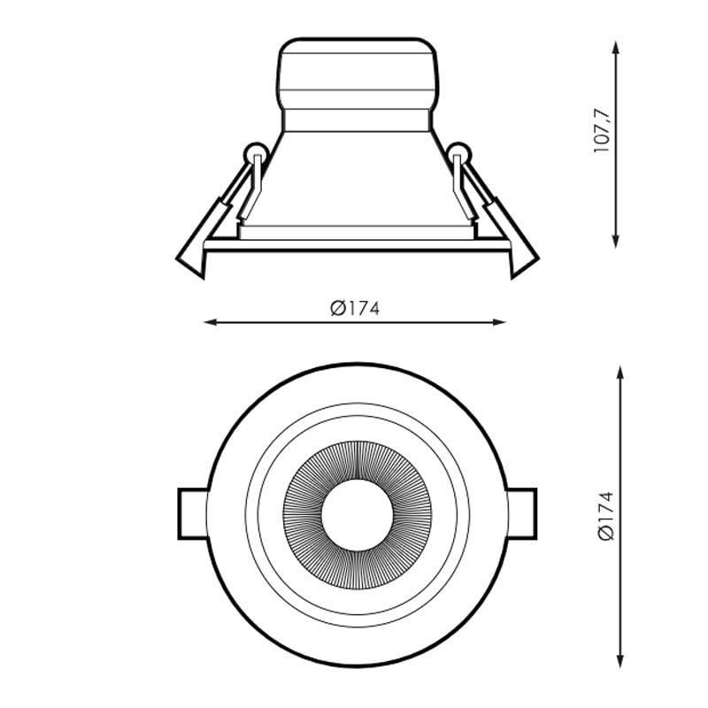 20W Įmontuojamas LED šviestuvas KOBE m