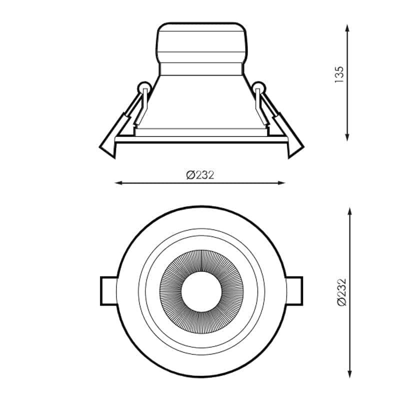 35W Įmontuojamas LED šviestuvas KOBE m