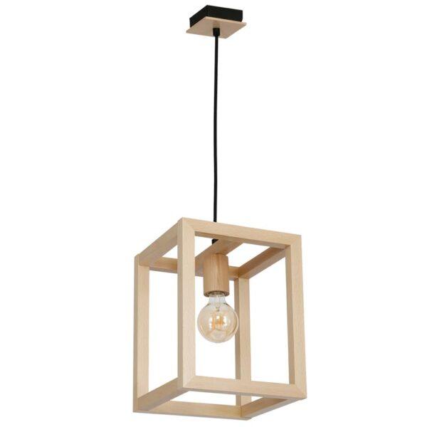 Pakabinamas medinis šviestuvas LEGNO