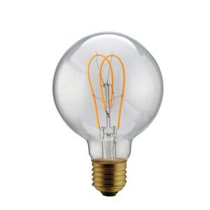 5W E27 LED lemputė Vintage Curved Clear G95