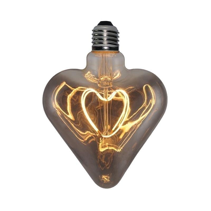 5W E27 LED lemputė Vintage Curved HEART