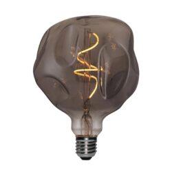 5W E27 LED lemputė Vintage Globo Bumped Grey