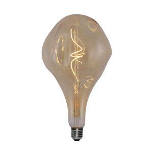 5W E27 LED lemputė Vintage Curved A165 Smeraldo