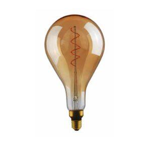 5W E27 LED lemputė Vintage Curved A165 Gold