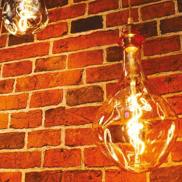 5W E27 LED lemputė Vintage Bumped Gold 2