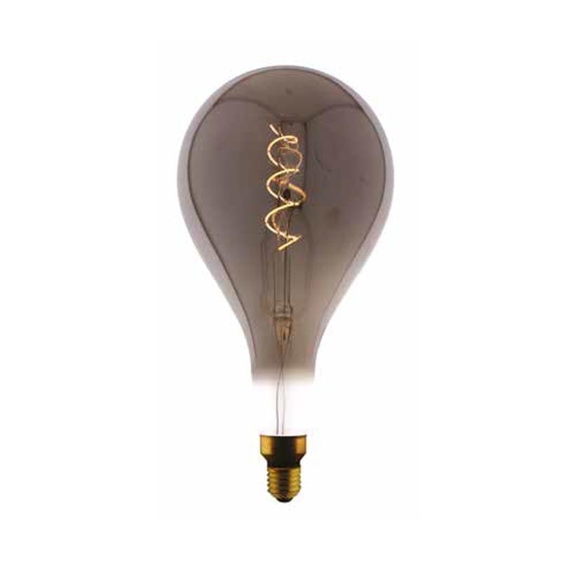 5W E27 LED lemputė Vintage Curved A165 Grey