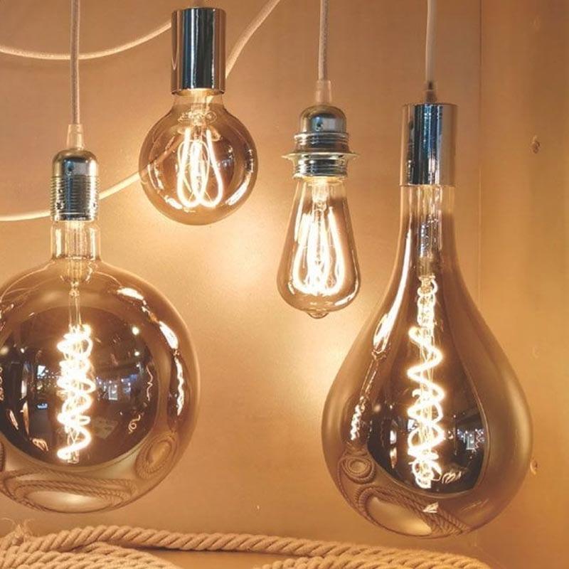 5W E27 LED lemputė Vintage Curved A165 Grey 2
