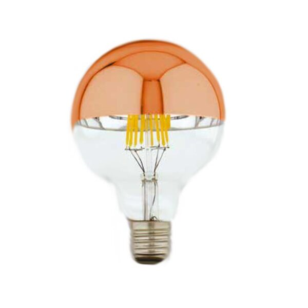 7W E27 LED lemputė GG95 CUPOLA RED