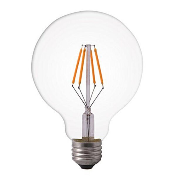 4W E27 LED lemputė 2200K G95 CLEAR