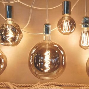 5W E27 LED lemputė Vintage G200 Grey 2
