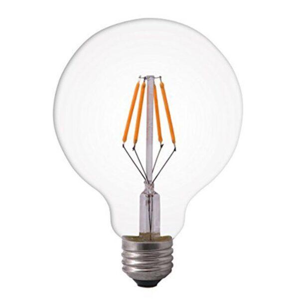 4W E27 LED lemputė G95 CLEAR