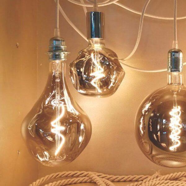 5W E27 LED lemputė Vintage Globo Bumped Grey 2