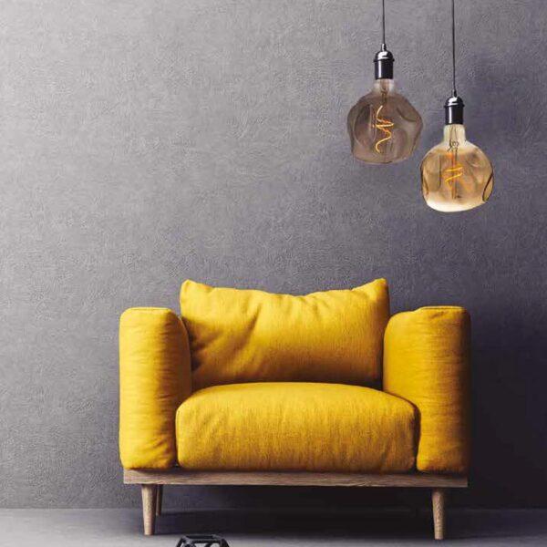 5W E27 LED lemputė Vintage Globo Bumped Grey 3