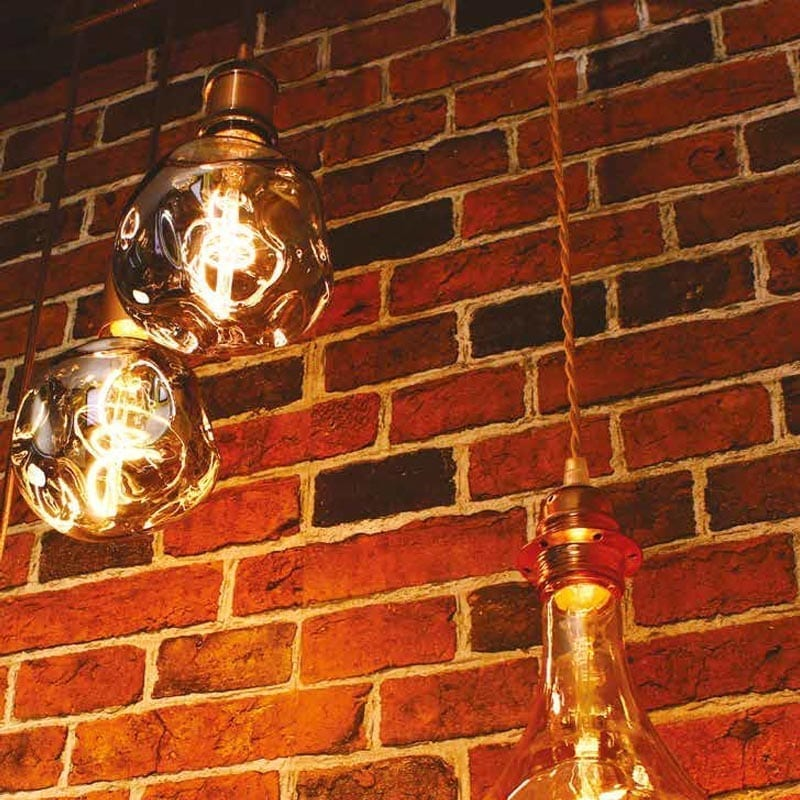 5W E27 LED lemputė Vintage Globo Bumped Gold 2